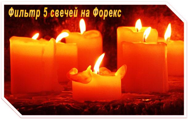 Фильтр 5 свечей — несложный метод ,позволяющий выйти в прибыль на Форекс