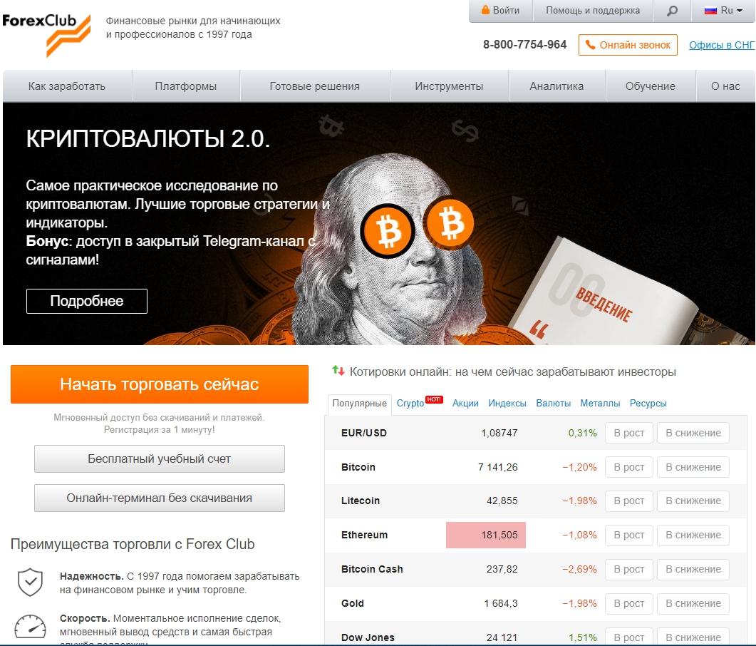 Сайт fxclub.org