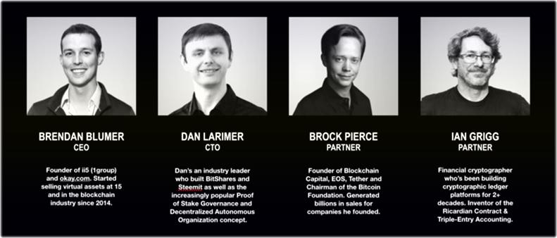 команда криптовалюты EOS