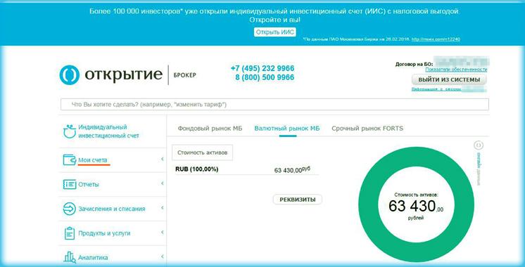 брокер России на Московской бирже