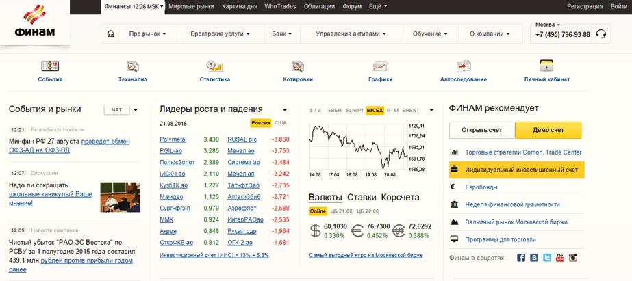 Ведёщие брокеры России
