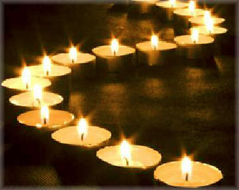 в свечах японских