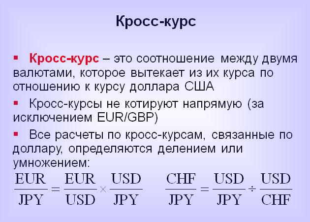 Что же такое эти кросс курсы, доллар валюта и евро