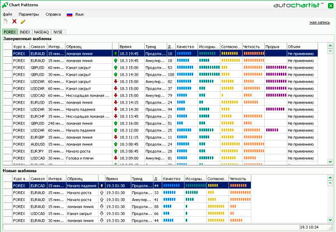 Веб программа для базового анализа Авточартист