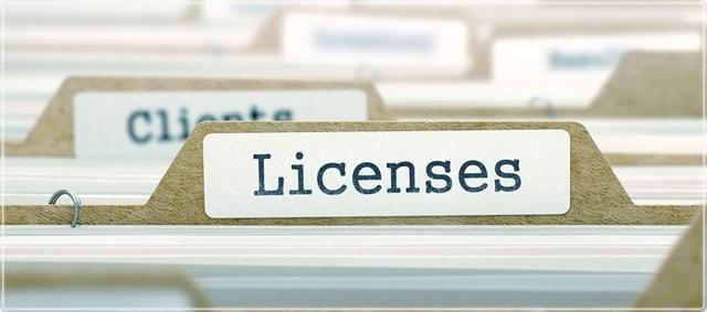 сертификаты с лицензиями