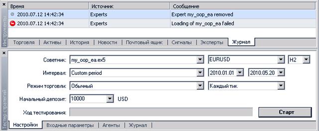 Тестирование советников Форекс в тестере торговых стратегий терминала MT4 и 5
