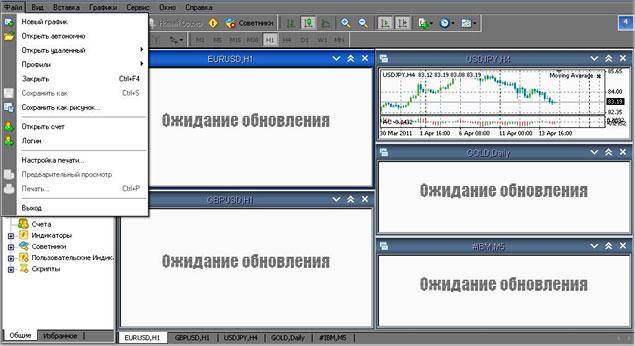 пример открытия стартового демо счета в МТ4, Metatrader