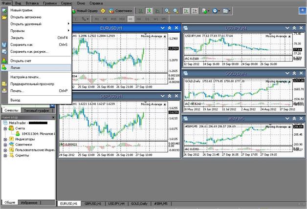 примерное открытие биржевого счета