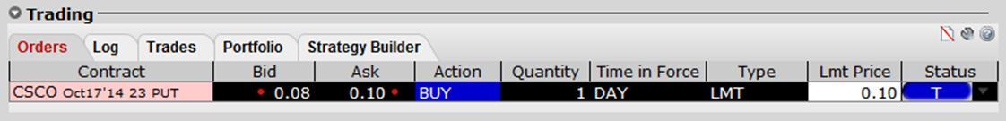 Создание ордеров в OptionTrader