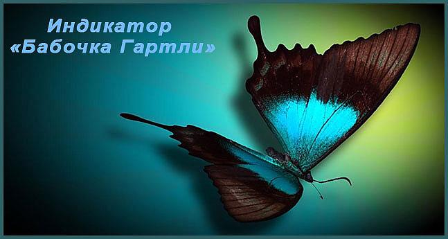 Индикатор графических бабочка Гартли