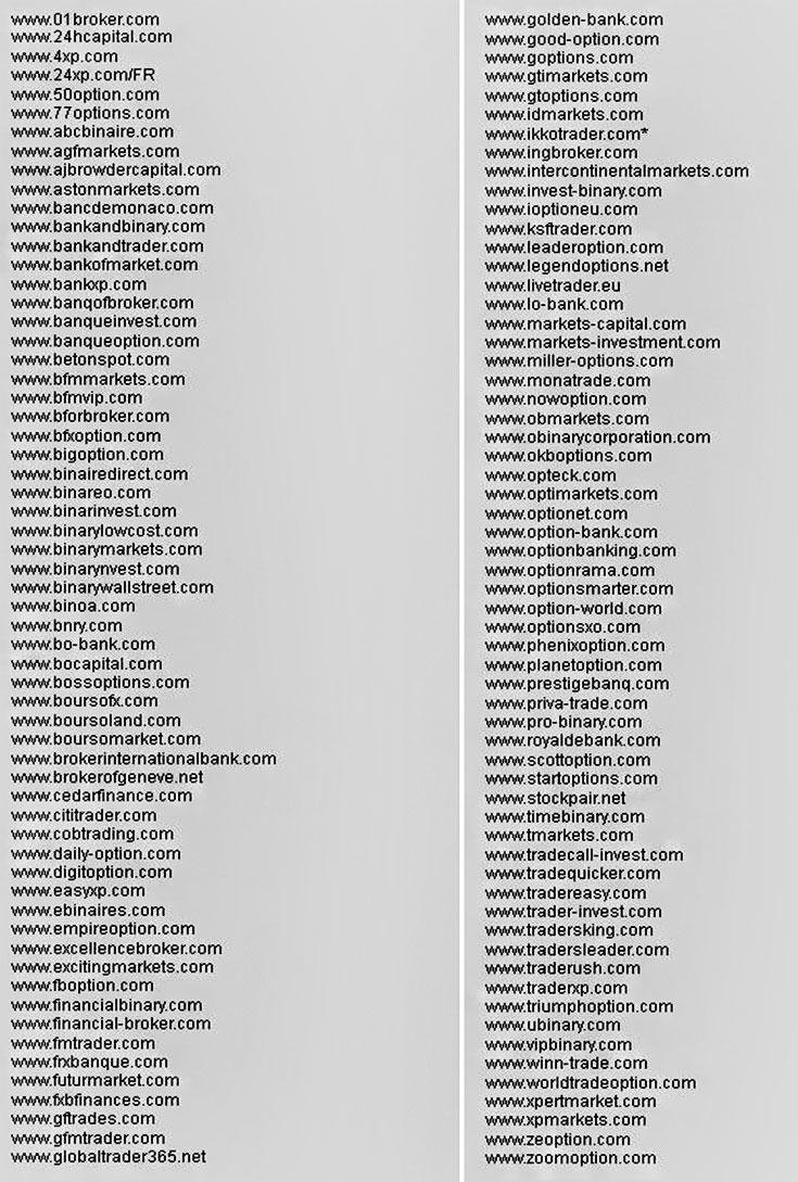 список брокеров мошенников