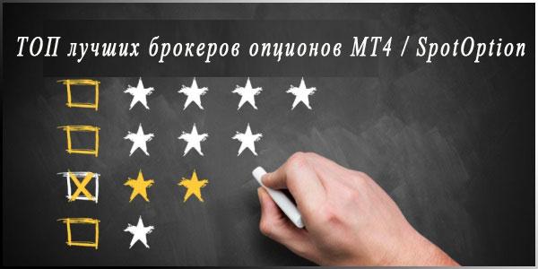 ТОП лучших брокеров бинарных опционов с торговыми платформами MT4 и SpotOption